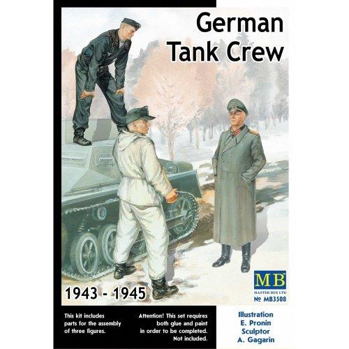 Mas3508 - Masterbox 1:35 - German Tank Crew (1943-1945) Kit No. 2