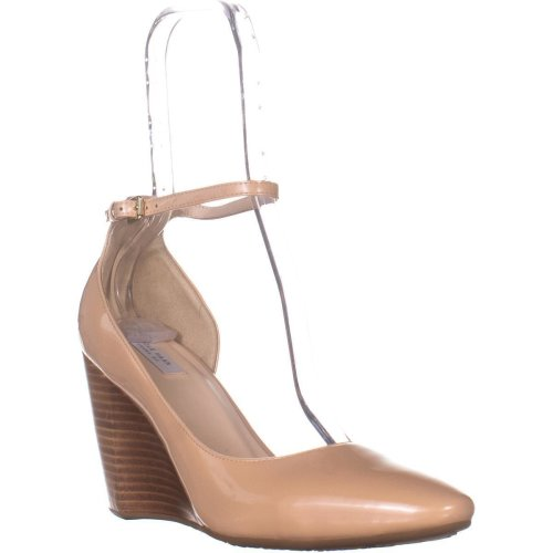 Cole Haan Lacey Ankle Strap Wedge Sandals, Nude Patent, 7.5 UK