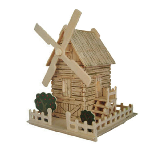 Wndmill House Jigsaw Wooden Vivid 3D Puzzle Model  Toy
