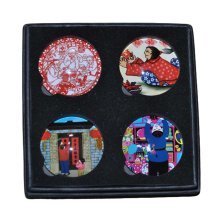 Set of 4 Chinese New Year Fridge Magnet Refrigerator Magnets Kitchen Magnets
