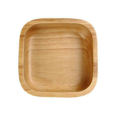 Wooden Dinnerware Fruit/ Meat/ Dessert Dishes Square Food Bowl 12.5 X 12.5 CM