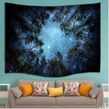 Forest Starry Sky Tapestry Wall Hanging Blanket Beach Towel Bedspread Picnic Mat Throw Decor