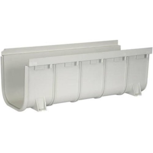 NDS 833 8 x 20 in. Deep Profile Channel Drain, Light Gray