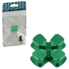 ZedLabz aluminium alloy metal directional d pad arrow button for Sony PS4 controllers - green