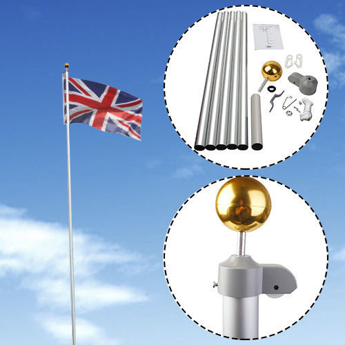 20FT Flag Pole Aluminium 5 Joints Flagpole