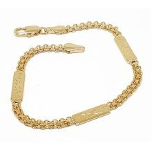 New 9 CT Gold Filled Bismark Bracelet with Bar For Lady B30