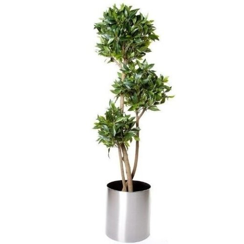 Artificial Silk Bay 3 Ball Tree - Green, 150cm