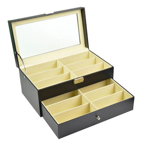 Eyeglasses Display Tray Sunglasses Case Storage Box – 12 Compartments