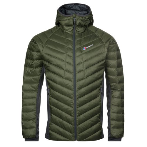 Berghaus Tephra Stretch Down Mens Insulated Outdoor Hooded Jacket Green