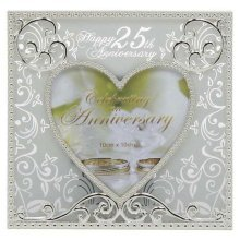 Silver Heart 25th Anniversary Photo Frame by Shudehill giftware