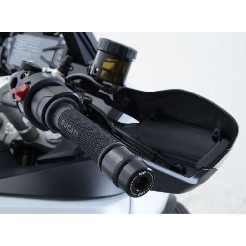 R&G Bar End Sliders for Ducati MTS 1200 Multistrada 2015 onward / Multistrada Enduro / Multistrada 1260 (use with Ducati handguards)