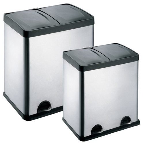 48-60L  2 Compartments Pedal Recycling Waste Bins