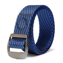 120CM Mens Outdoor Twill Nylon Tactical Belt Casual Alloy Square Buckle Jeans Waistband