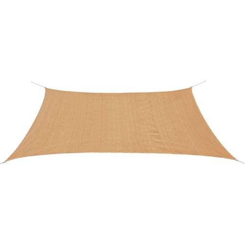 vidaXL Sunshade Sail HDPE Rectangular 2x4 m Beige