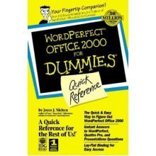 Wordperfect Office 2000 for Windows for Dummies Quick Reference