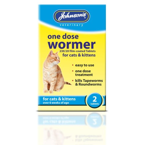 Jvp Cat One Dose Wormer 2 Tablets (Pack of 6)