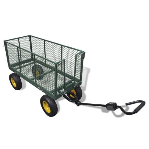 Heavy Duty Garden Utility 4 Wheel Cart/ Trolley/ Trailer/ Truck 350 KGS Load