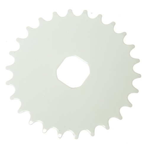 26T TEETH SPROCKET for ONE PIECE CRANK Bike/Bicycle WHITE (Square) NEW