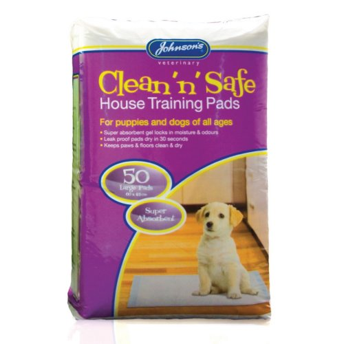 Johnsons Veterinary Clean N Safe Dog House Training Pads (Pack Of 50)