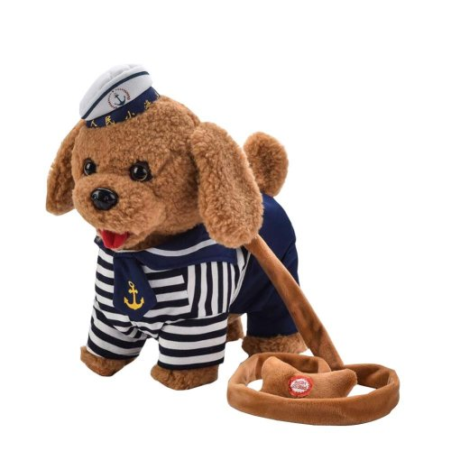 Electronic Toy Dog Navy Clothes Kids Toy Dog Kids Company Children Gift
