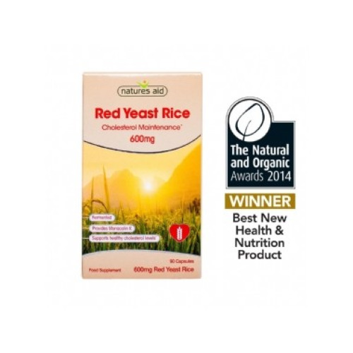Natures Aid Natures Aid Red Yeast Rice 600mg - 90 Capsules