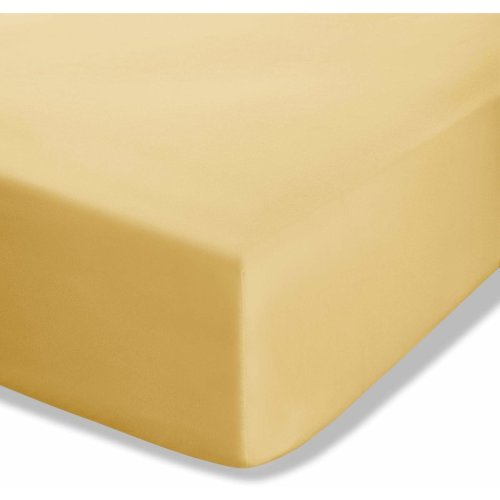 Catherine Lansfield Easy Iron Percale King Fitted Sheet Ochre