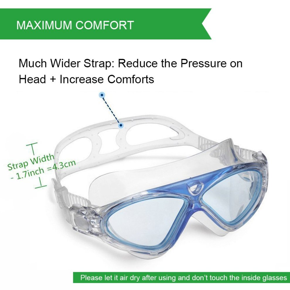 b1bb712ccd ... Swimming Goggles Adult Anti Fog No Leaking Clear Vision UV Protection  Easy to Adjust Professional+ ...