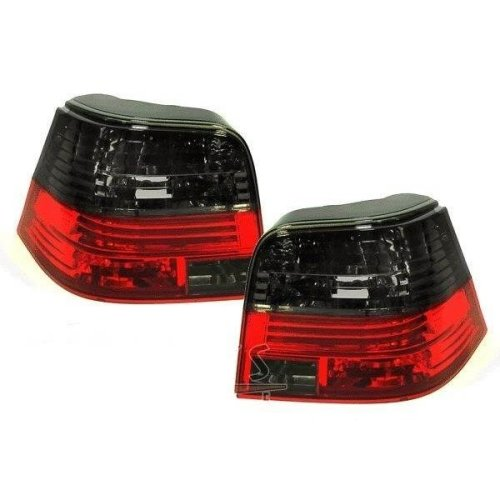Vw Golf Mk4 Hatchback 1998-2004 Rear Tail Lights Crystal Red & Smoked  Pair