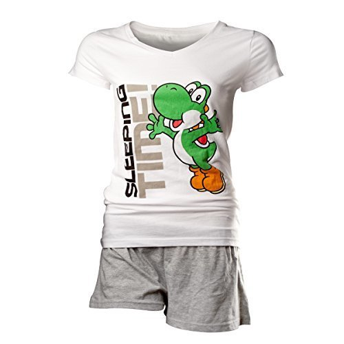 Flashpoint AG Super Mario Yoshi Sleeping Time Pyjamas white-grey M (New)