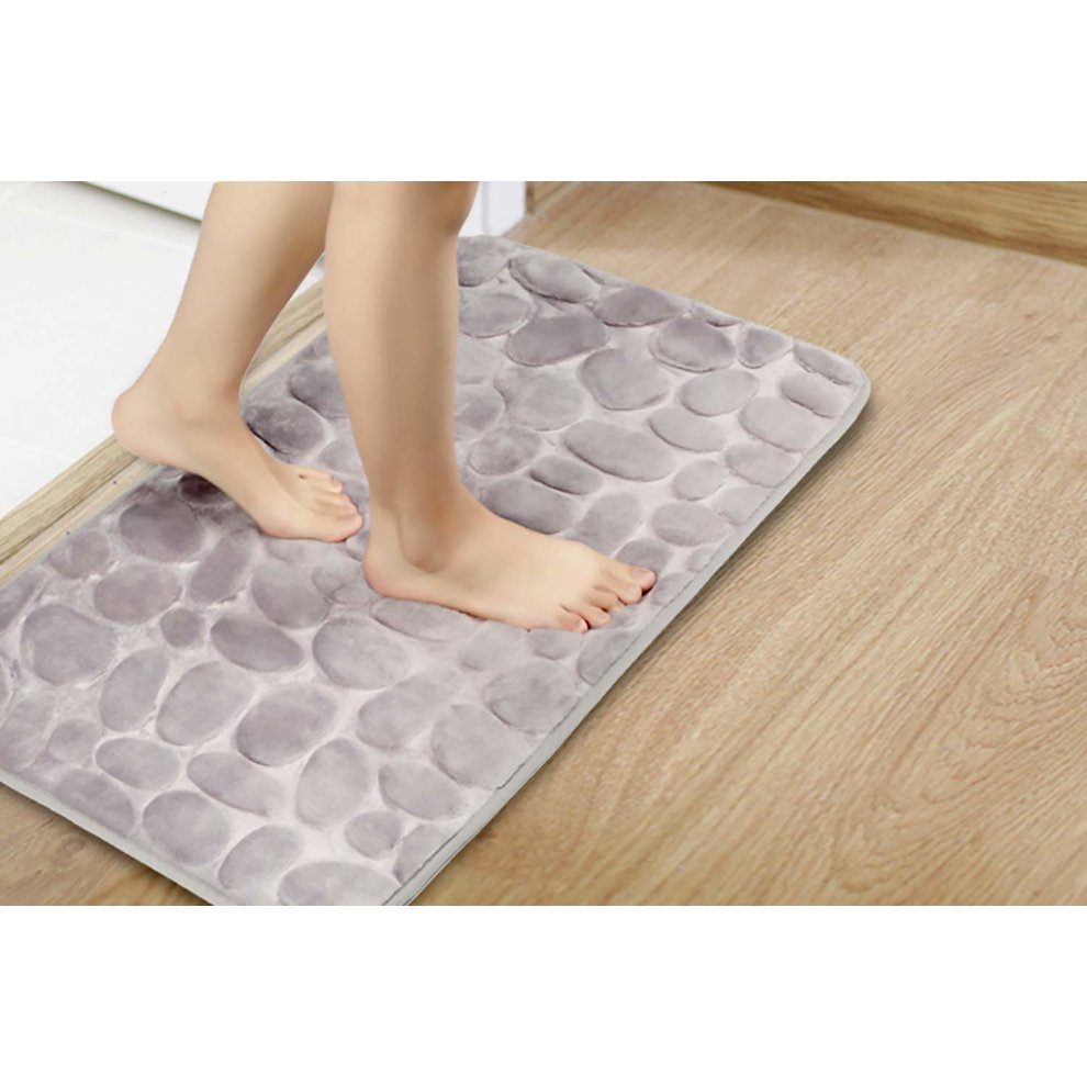 Ajoxel Bath Mat With 4 Pack Rug Grippers Shower Bathroom Non Slip Kitchen