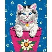 Dpw91367 - Paintsworks Learn to Paint - Flower Pot Kitten