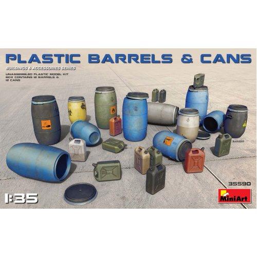 MIN35590 - Miniart 1:35 - Plastic Barrels & Cans