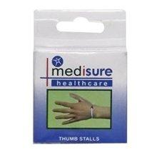 Medium Medisure Plastic Thumb Stalls -  medisure pair flexible pvc thumb stalls choose your size