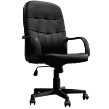 Orion High Back Leather Faced Managers Office Chair by Eliza Tinsley BCL/Z2207/BK