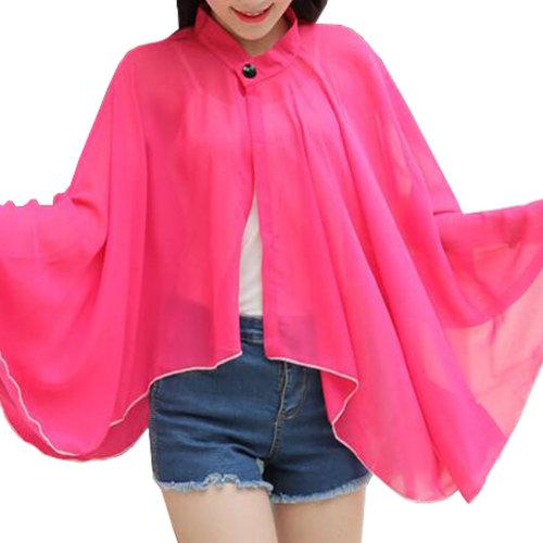 Sun Protective Clothing - Summer Chiffon Shawl Beach Coats Jackets#03