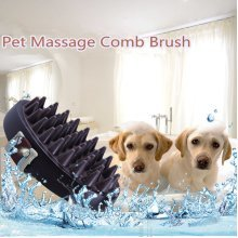Cat Dog Pet Massage Soft Silicone Brush Bath