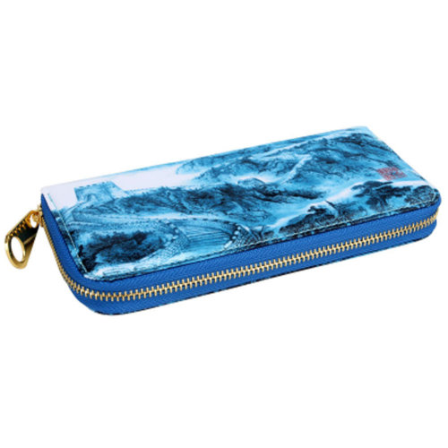 Chinese Style Characteristic Purse Silk Pouch Wallet Bag Perfect Gift, F