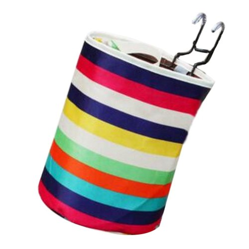 [Rainbow] Waterproof Canvas Bicycle Basket Foldable Basket for Bike