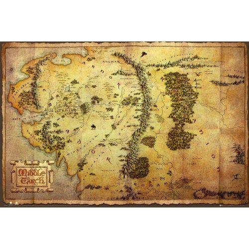 The Hobbit Map Maxi Poster
