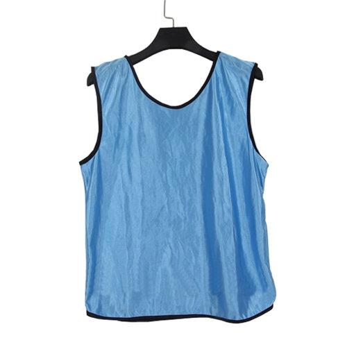 Set of 6 LIGHT BLUE One Size Basketball/Soccer Scrimmage Vests Basketball Jersey