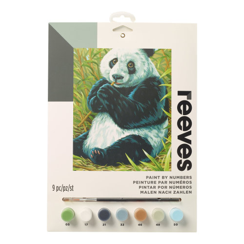 Reeves Painting By Numbers-Panda