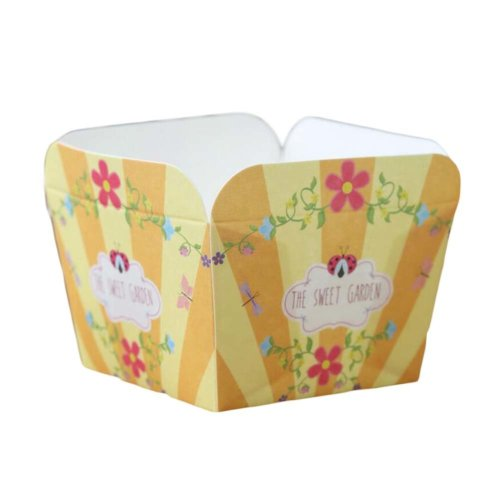 50 Pcs Square Baking Cup Heat-Resistant Cupcake&Muffin Cup - Yellow