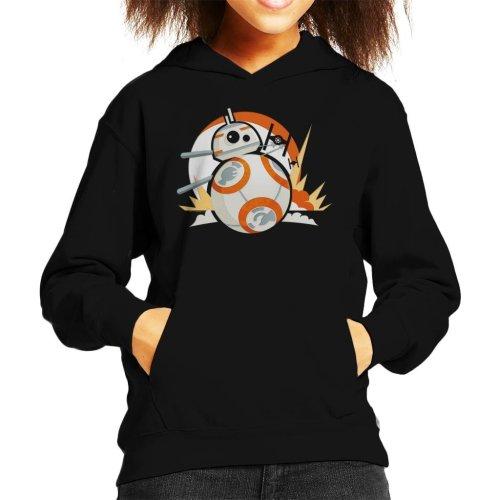 Star Wars BB8 Fighter Chase Kid's Hooded Sweatshirt