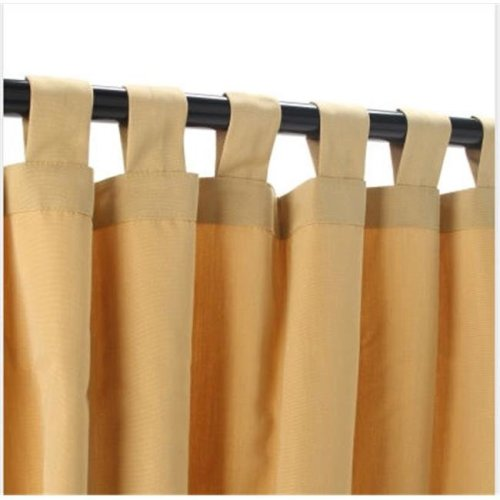 Outdoor Curtains CUR96WHS 54 in. x 96 in. Sunbrella Outdoor Curtain with Tabs - Wheat
