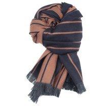 Solid Cashmere Stripe Scarves Shawl