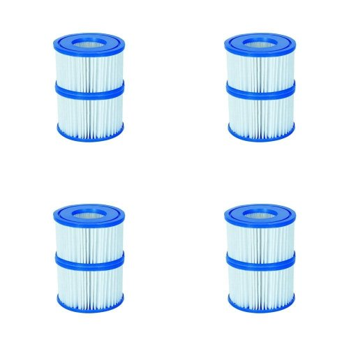 8 Pack Bestway 58323 Lay-Z-Spa Filter Cartridge, Size VI 10.6cm x 8cm