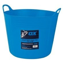 Ox P110642 Pro Heavy Duty 42 Litre Flexi Tub Blue