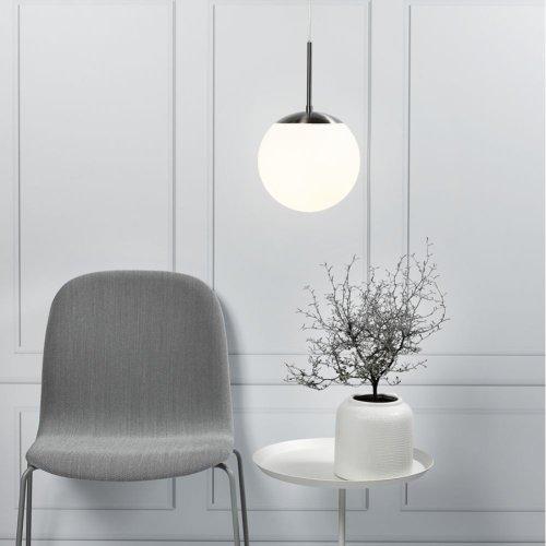 Opal White Glass Globe Indoor Ceiling Pendant Light - Nordlux Cafe 25 39573001