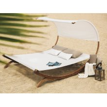 Double Hammock with Stand - Beige TERAMO