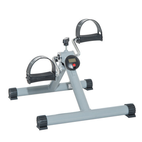 HOMCOM Portable Pedal Exercise Machine-Grey